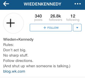 wieden + kennedy instagram