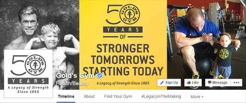 Golds Gym Facebook