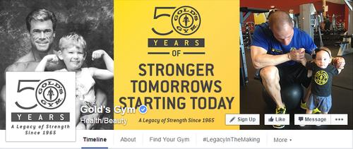 Golds Gym Facebook