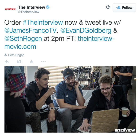 The Interview Twitter Content example