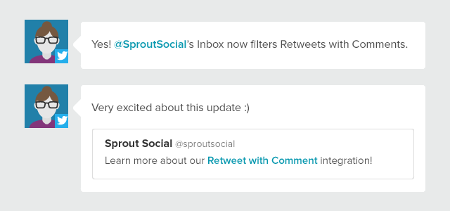 Monitor & Address Retweets With Comments From the Smart Inbox