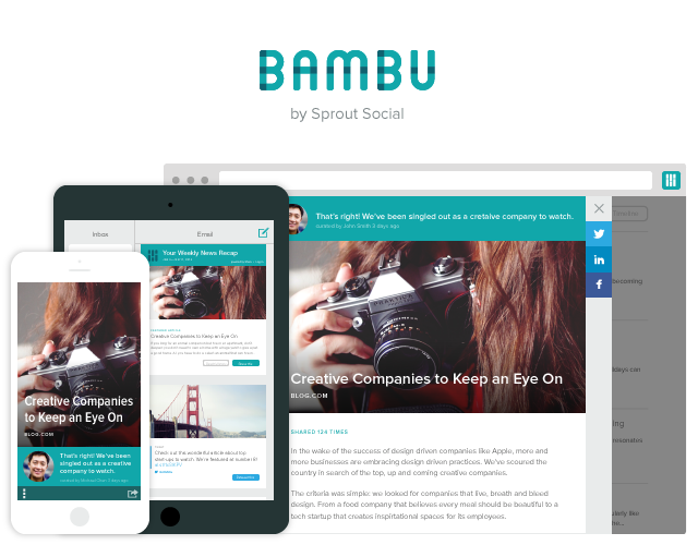 Bambu Employee Advocacy Platform by Sprout Social