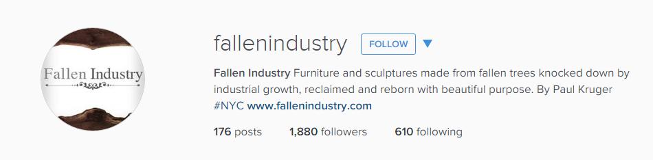 fallen industry instagram bio
