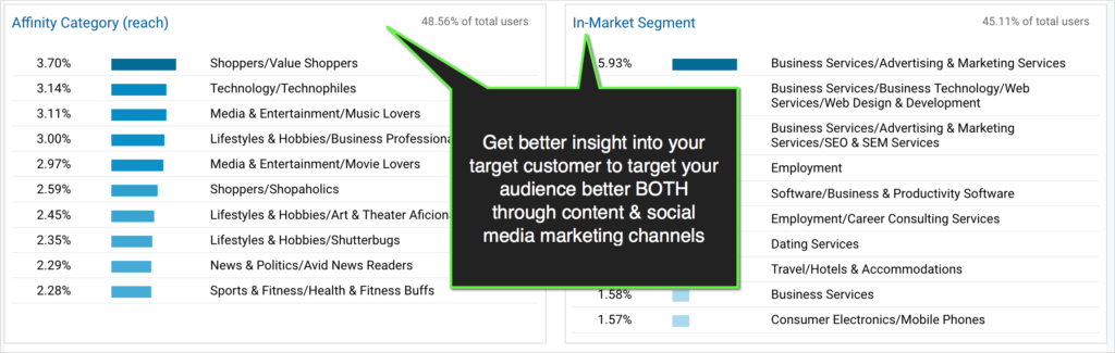 google analytics report on audience interests