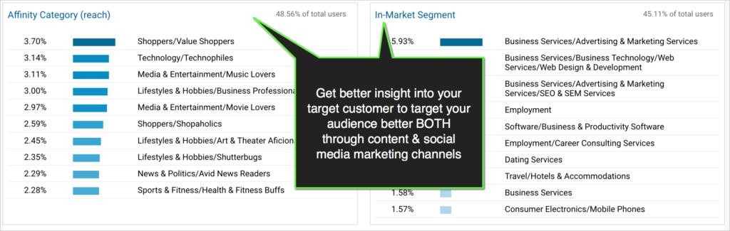 google analytics report on audience interests