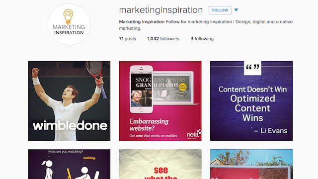 Marketing Inspiration Instagram