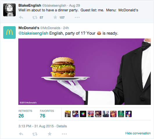 mcdonalds social engagement example
