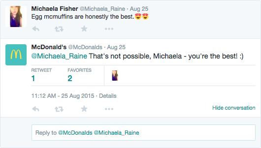 mcdonalds social media example