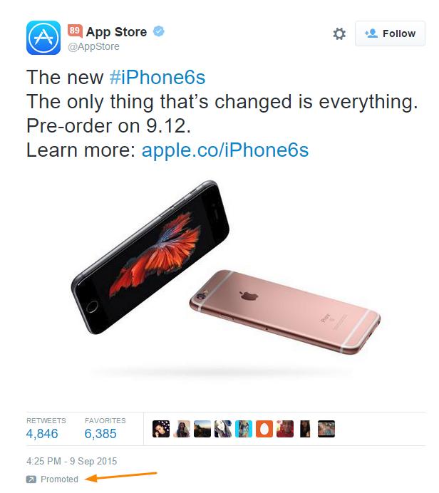app store promoted tweet