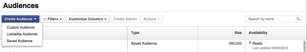 how to create aec audiences for facebook