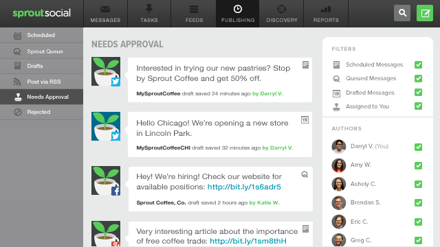 Approve and Reject Messages From one Screen in Sprout Social