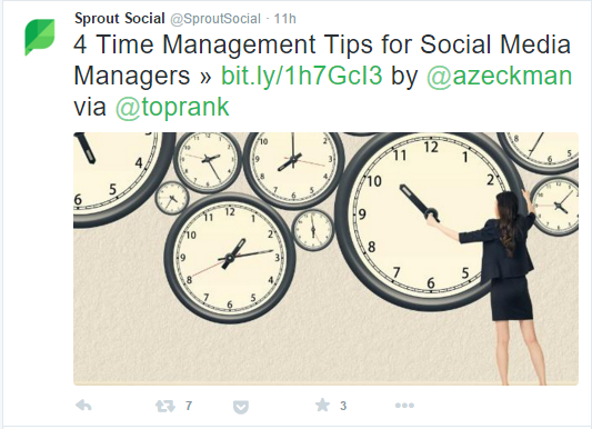 Content Wizard Social media Manager example