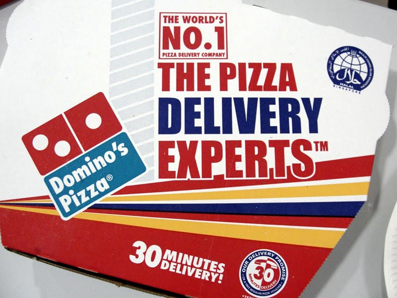 Dominos Pizza 30 Minute Delivery Guarantee