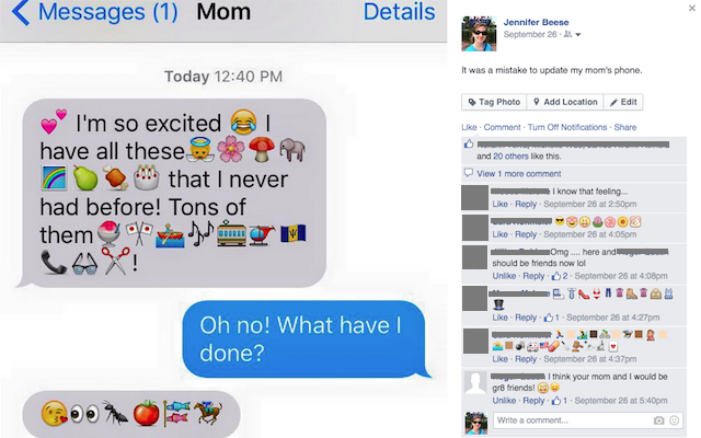 Parents using emojis