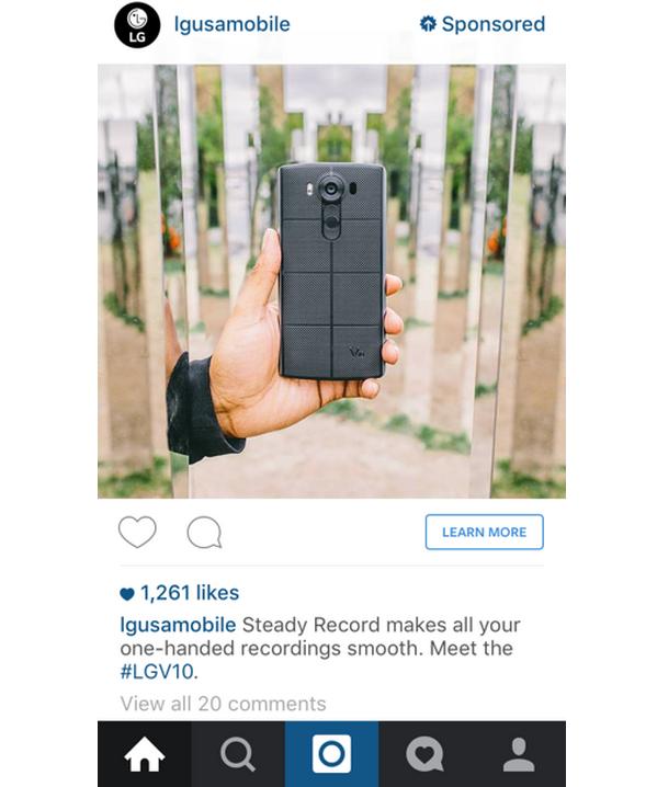 Instagram Sponsored Ad