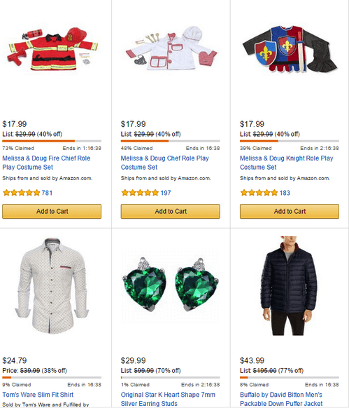 Amazon Lightning Deals Sample