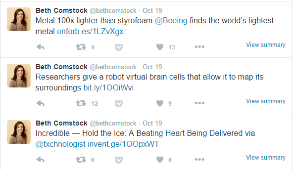 Beth Comstock Tweets