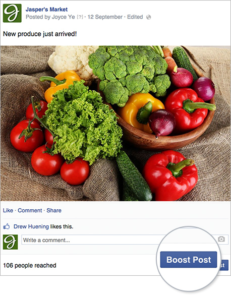 Facebook Boosted Post