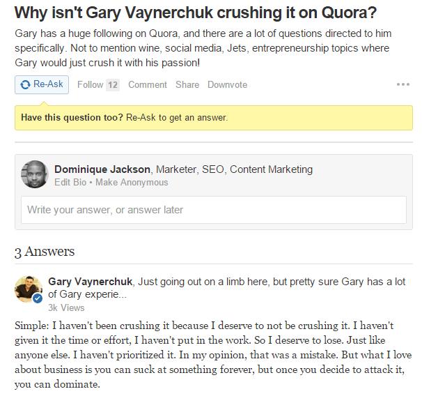 Gary Vee Quora
