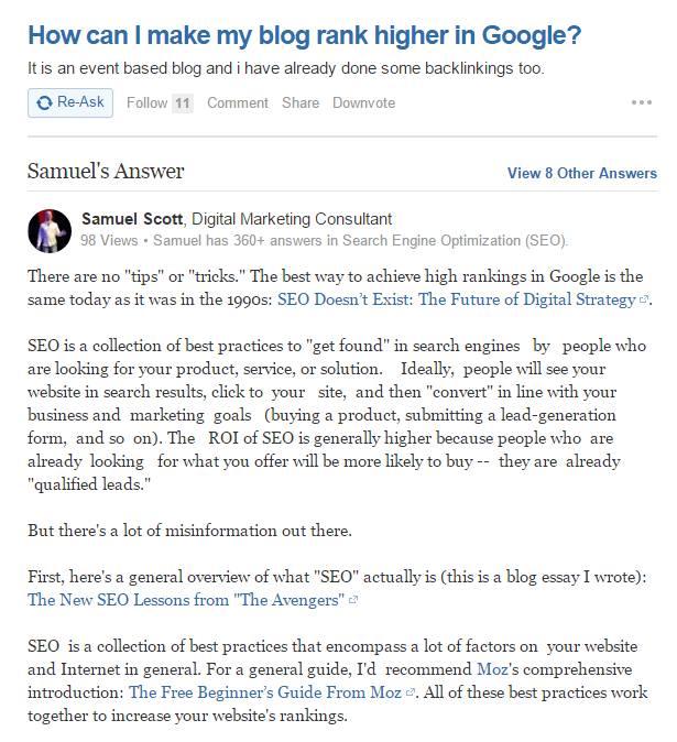 Quora Answer Example