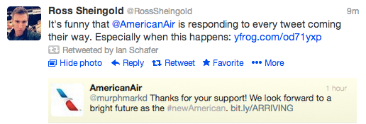 american airlines automated tweet
