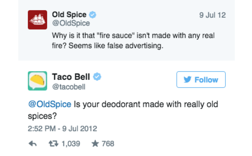 taco bell and old spice twitter beef