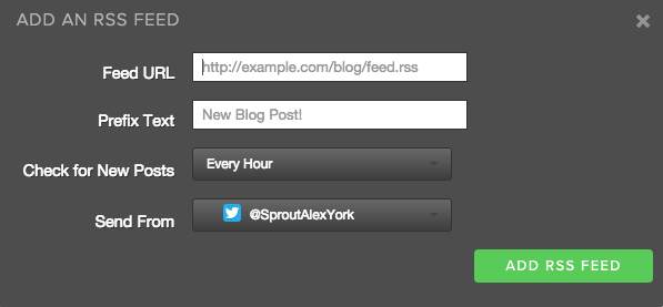 Add an RSS Feed example
