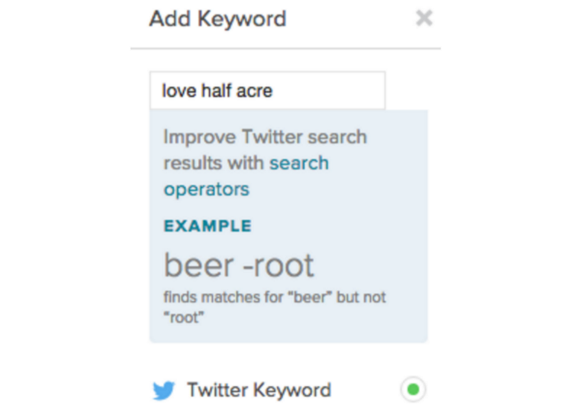 add twitter keyword in sprout social