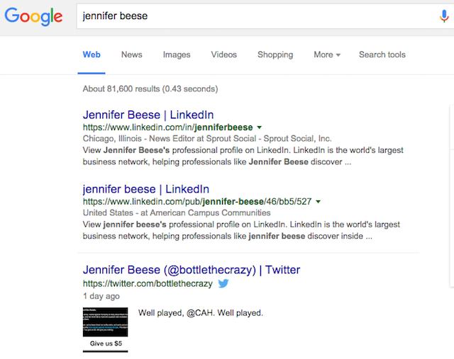 Twitter Google Search