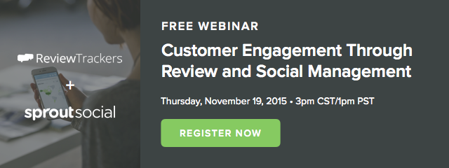 customer engagement through review and social management