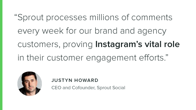 Instagram Quote by Sprout Social CEO Justyn Howard