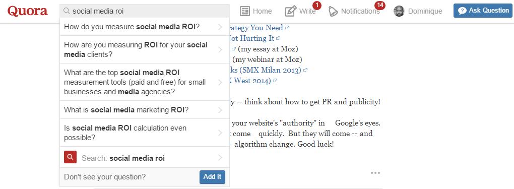 quora search example