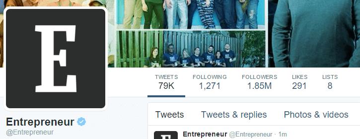 Entrepreneur Twitter