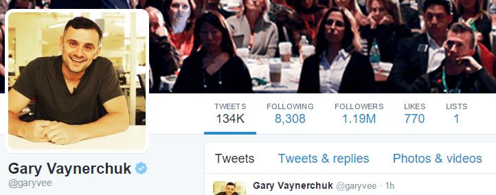 Gary Vaynerchuk Twitter