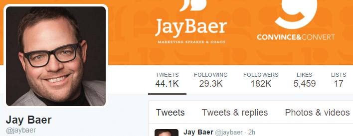 Jay Baer Twitter