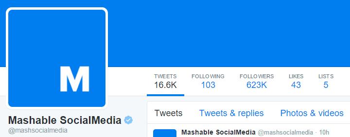 Mashable SocialMedia Twitter