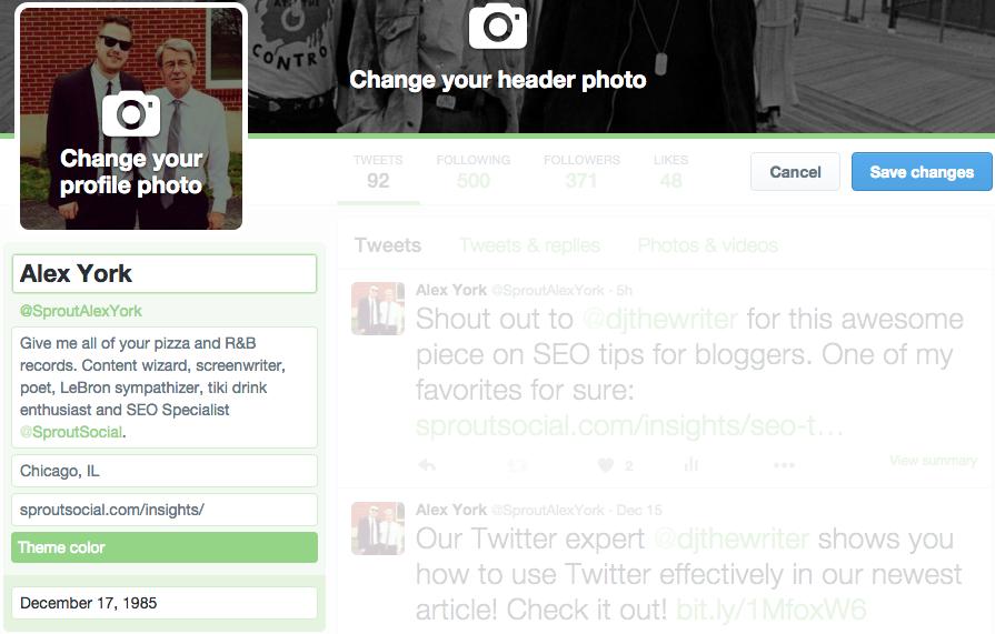 edit twitter bio image sample