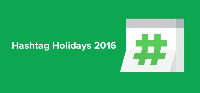 Hashtag Holidays 2016 at sproutsocial.com/insights