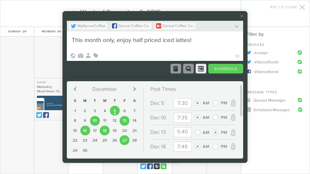 Publishing Calendar With Compose Window