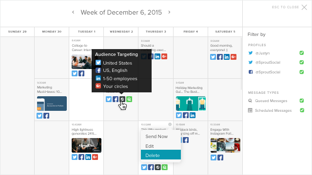 Publishing Calendar With Hover States