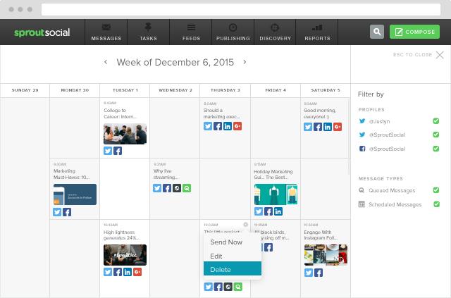 Publishing Calendar Overview