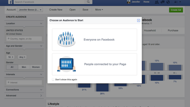 Facebook Audience Insights Choose Audience