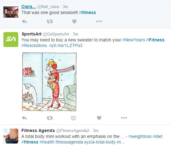 Fitness en hashtags