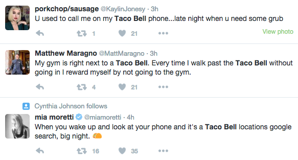 taco bell social listening example