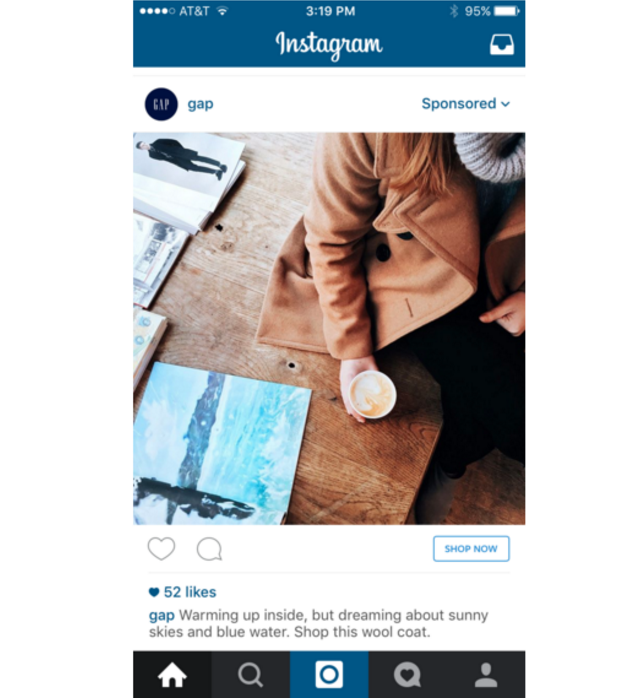 instagram full screen example