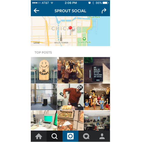 instagram geo location search