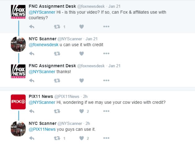 twitter news pickup example