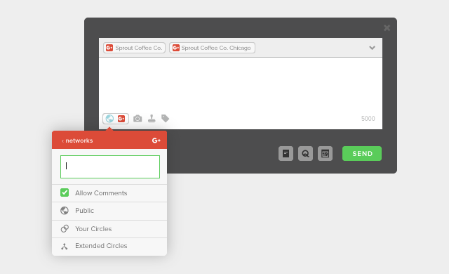Google+ Targeting Options in Sprout Social