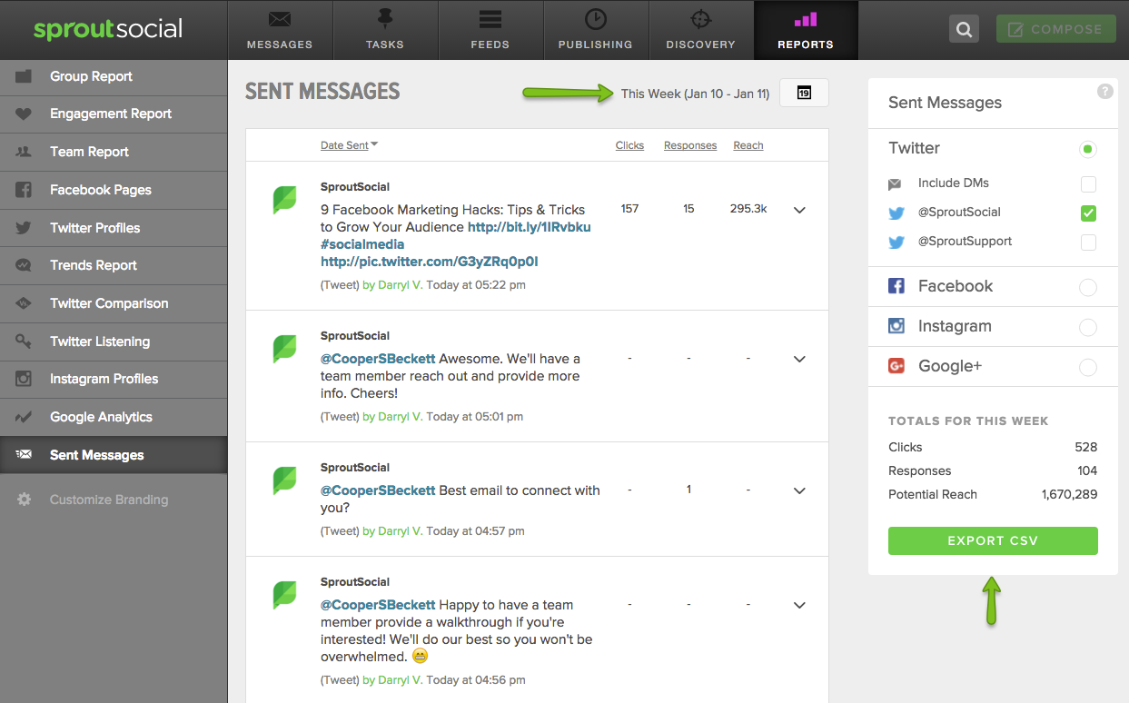 sprout social twitter analytics example