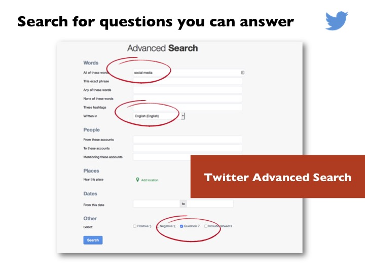 twitter advance search example